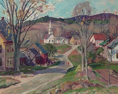 """""""South Windham, Vermont,"""" Aldro Thompson Hibbard, oil on canvas, 24 x 30"""", private collection."""