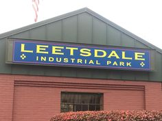 Leetsdale Industrial Park added a blue and yellow aluminum sign that is sure to catch some attention.