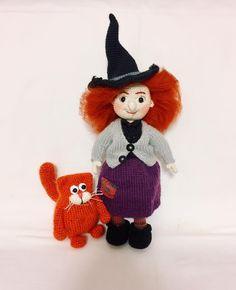 И вот они вместе - очаровательная ведьмочка со своим милым котом 🎃 ~ Парочка связана на заказ ~ Кукла связана крючком, на каркасе, одежда связана спицами. Юбка, верхняя кофта, ботинки и шляпа снимаются. ~ Кот связан крючком, хвост гнётся ~ #амигуруми #ручнаяработа #свяжуназаказ #свяжудлявас #хэндмейд #вязанаяигрушка #купитьвподарок #игрушка #купить #amigurumi #handmade #крючкомназаказ #крючком #назаказ #foryou #madewithlove #сделанослюбовью #crochet #люблювязать #продаю #knitting…