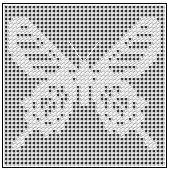 Free Filet Crochet Patterns You Should Try: Ceylon Rose Butterfly Chart These free filet crochet patterns will help you learn and practice. You can spell words and create beautiful graphic designs using double crochet! Crochet Patterns Filet, Crochet Butterfly Pattern, Blackwork Patterns, Crochet Lace Edging, Crochet Bunny, Basic Crochet Stitches, Doily Patterns, Crochet Shawl, Crochet Doilies