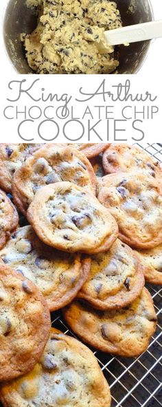 King Arthur Chocolate Chip cookies. Love the crispy outside, chewy inside. Great buttery flavor. Best chocolate chip cookie recipe ever. #KingArthurChocolateChipCookies #ChocolateChipCookies #BestChocolateChipCookies #KingArthurRecipe #ChocolateChipCookieRecipe #BestChocolateChipCookieRecipe