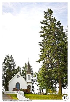 Center Church at Lopez Island is a beautiful place for a wedding in the San Juan islands, off the coast of Washington.