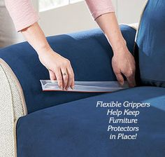 Tuck in your slip-covers just once and never worry about them again with Slip-Cover PVC Grips.