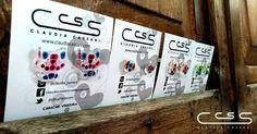 Nuevos zarcillos transparentes pintados a mano Adquiérelos ya! #ClaudiaCassani
