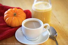 Clean Eating Pumpkin Pie Coffee Creamer is a delicious alternative to store-bought coffee creamers. Enjoy this recipe and more at TheGraciousPantry.com.