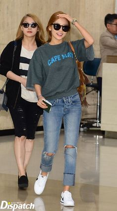 KARA Goo Hara airport fashion at Gimpo Airport [150510]