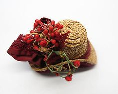 Rare-amp-Wonderful-Antique-Doll-039-s-Hat-For-French-Fashion