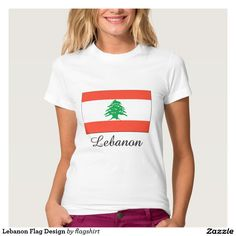 Lebanon Flag Design T Shirt