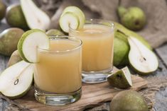 Pear juice is lovely sweet and thick and is a great aid for digestion. Pears provide a good source of fiber, vitamin B2, C, E, copper andposassium as well
