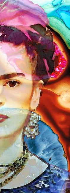 Frida Kahlo Art - Seeing Color Painting by Sharon Cummings - Frida Kahlo Art - Seeing Color Fine Art Prints and Posters for Sale #Uncategorized