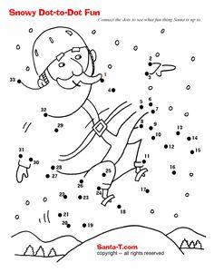 Santa Dot-to-dot. More fun activities and coloring pages at SantaTimes.com