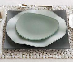 Unique glass  tableware  | is the unique design dinnerware collection. Oceana Seaglass Dinnerware ...
