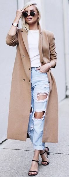 A cashmere coat for staying extra warm in the cold months   Spring outfit ideas
