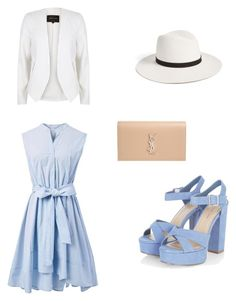 Country club lunch by a-atkison on Polyvore featuring polyvore, fashion, style, Chicwish, River Island, Yves Saint Laurent, Janessa Leone, country and clothing