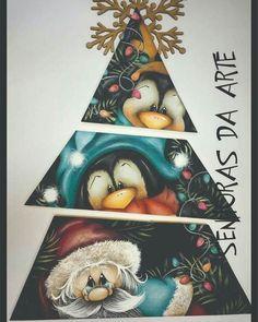 Christmas Wood Crafts, Christmas Canvas, Christmas Paintings, Diy Christmas Ornaments, Christmas Wrapping, Country Christmas, Christmas Art, Winter Christmas, Christmas Wreaths