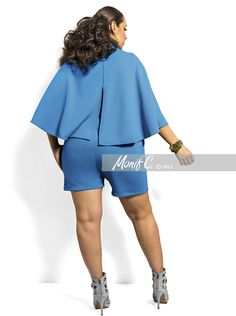 """Safiya"" Cape Romper -Turquoise"