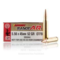 Barnes Range AR 5.56x45 Ammo - 20 Rounds of 52 Grain OTM Ammunition #556x45 #556x45Ammo #Barnes #BarnesAmmo #Barnes556x45 #OTMAmmo #556NATO #BarnesRangeAR