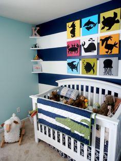 Haha. I like the baby's name. Silohuettes above crib.