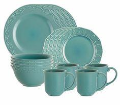 Paula Deen Signature Dinnerware Whitaker 16-Piece Dinnerware Set, Aqua Paula Deen http://smile.amazon.com/dp/B005ZONHKG/ref=cm_sw_r_pi_dp_EzdLwb1M2C2TD