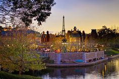EPCOT Center - A Romantic Evening in France by Cory Disbrow, via Flickr