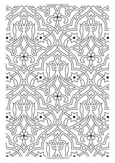 Flower Pattern The Creative Colouring Book for Grown-ups Pattern Coloring Pages, Mandala Coloring Pages, Coloring Book Pages, Printable Coloring Pages, Coloring Sheets, Islamic Art Pattern, Pattern Art, Abstract Pattern, Zentangle