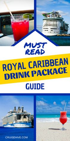 Must Read Royal Caribbean Drink Package Guide Read our full guide with prices on the Royal Caribbean Drink Package for your next cruise vacation. Royal Caribbean Oasis, Cruise Tips Royal Caribbean, Caribbean Drinks, Royal Cruise, Cruise Travel, Cruise Vacation, Vacations, Honeymoon Cruises, Shopping Travel