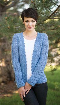 Bainbridge Cardigan - A lacy #cardigan from Love of #Crochet magazine