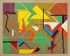 Sidney Gordin, 5-79, 1979, Acrylic on board   30 x 38 inches