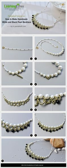 #Beebeecraft #tutorials on how to make #handmade white and black #pearlnecklace