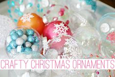 IHeart Organizing: Our Crafty Christmas Ornaments!