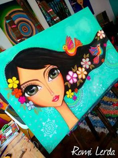 Resultado de imagen para romi lerda mandalas Art Pop, Fabric Painting, Painting & Drawing, Whimsical Art, Face Art, Indian Art, Painting Inspiration, Art Girl, Amazing Art