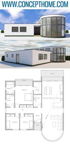 House Plans, Home Plans, Floor Plans, Sims House Plans, Small House Plans, House Floor Plans, Minimalist House Design, Minimalist Home, Modern Floor Plans, Mexico House, Deco, House Blueprints