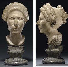 A ROMAN MARBLE PORTRAIT HEAD OF A WOMAN FLAVIAN PERIOD, CIRCA 75-90 A.D.