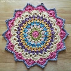Most Popular Crochet Mandala Doily Dream Catchers 66 Ideas Free Crochet Doily Patterns, Crochet Circles, Granny Square Crochet Pattern, Crochet Motif, Crochet Stitches, Knit Crochet, Mandala Crochet, Crochet Doilies, Crochet Mandela