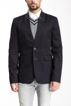 Leather Collar Blazer by i.am Sportswear on @HauteLook USD 45