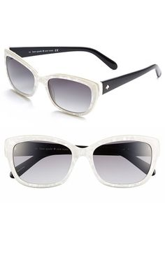 kate spade 'johanna' 53mm retro sunglasses available at #Nordstrom
