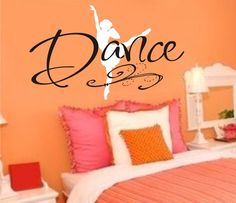 Vinyl Decal Dance Wall Art  Vinyl Lettering by JustTheFrosting, $20.00