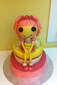 Edible Creations Jewel Sparkle LaLaloopsy  Cake Check us out on Face Book @ Angela Ediblecreations