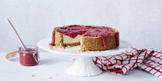 I Quit Sugar: Bloody Good Cheesecake: Crunchy Nut Cheesecake and Raspberry Chia Jam Gluten Free Cheesecake, Best Cheesecake, Pumpkin Cheesecake, Cheesecake Recipes, Dessert Recipes, Healthy Treats, Healthy Desserts, Yummy Treats, Sweet Treats