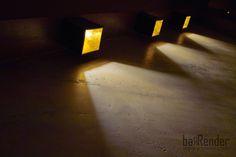 Tangential lighting on stucco wall - Barbalexis Oriental Restaurant in Piraeus