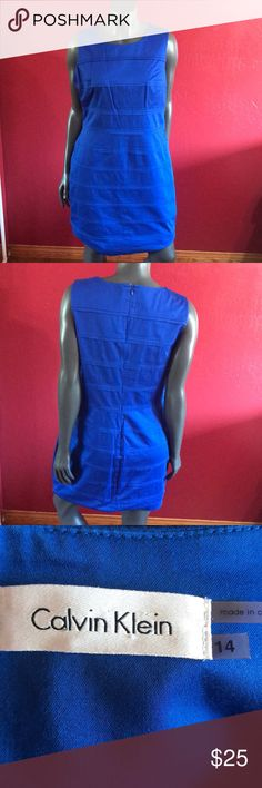 "blue Calvin Klein dress Pit 20"" Calvin Klein Dresses"