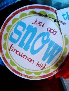 Several Christmas gift ideas for neighbors, teachers, friends....I love the snowman kit!