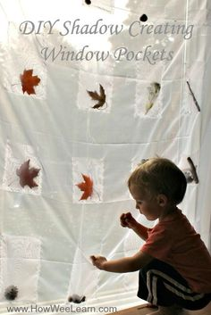 Amazing idea! What a great way for preschoolers to learn about shadows. And these shadow creating curtains are so easy to make! Love this DIY