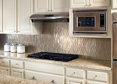 recycled glass mosaic tile for the kitchen