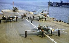 Supermarine Seafire aircraft, British aircraft carrier, world war II, 1942 Aircraft Photos, Ww2 Aircraft, Fighter Aircraft, Military Aircraft, Fighter Jets, British Aircraft Carrier, Royal Navy Aircraft Carriers, Photo Avion, Royal Canadian Navy