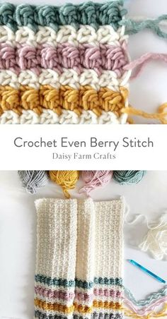 How to Crochet the Even Berry Stitch #crochetpattern