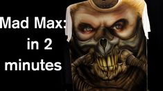 Mad Max Fury Road airbrush Speed Painting how to airbrush a portrait iwa...