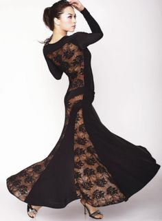 2011-D3- Black with Black Lace (side) - Verona