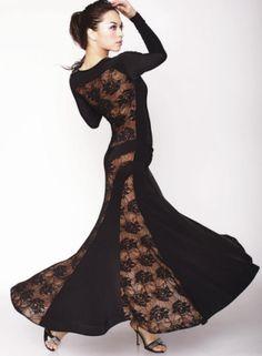 2011-D3- Black with Black Lace (side) - Verona
