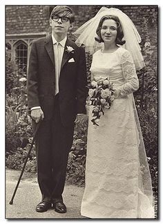 23-year-old Stephen Hawking on his wedding day to Jane Wilde, 1965. This was just two years after his diagnosis with ALS. He was told he'd be bedridden soon and dead within a few years, but he is still alive 50 years later.